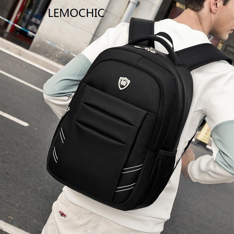 LEMOCHIC 2017 newest listing oxford solid shoulder bags simple business men backpacks tote mochila notebook pocket shoulder bags<br>