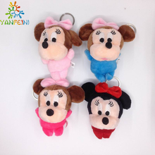 4pcs/lot 10cm Mini Lovely Mickey Mouse And Minnie Mouse Stuffed Animals Plush Toys For Children's Gift toys for girls & boys