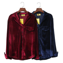 2017 New Hot Spring Formal Shirts Long Sleeve Warm Shirt Women Tops Lapel Velvet Top Solid Blouse Vintage Elegant Office Blouses