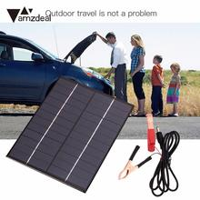 amzdeal Waterproof 5.5W 12V Solar Panels Board Cars Battery Power Charging Professional Outdoor Travelling Powerbank DIY Module