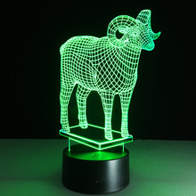 3D led foreign trade wholesale stereo Nightlight Acrylic Discoloration Colorful Atmosphere Lamp Novelty Lighting
