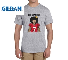 GILDAN The Real MVP: Colin Kaepernick funny t shirts Mens 7 Fashion T-shirts for 49ers fans(China)