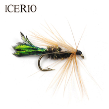 ICERIO 12PCS Peacock Herl Zug Bug Nymphs Trout Fly Fishing Lures #10(China)
