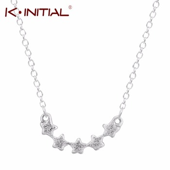 1Pcs 925 Sterling Silver Five Stars Necklaces Star Pendants&Necklaces Jewelry Collar Colar de Plata Necklace Drop Shipping