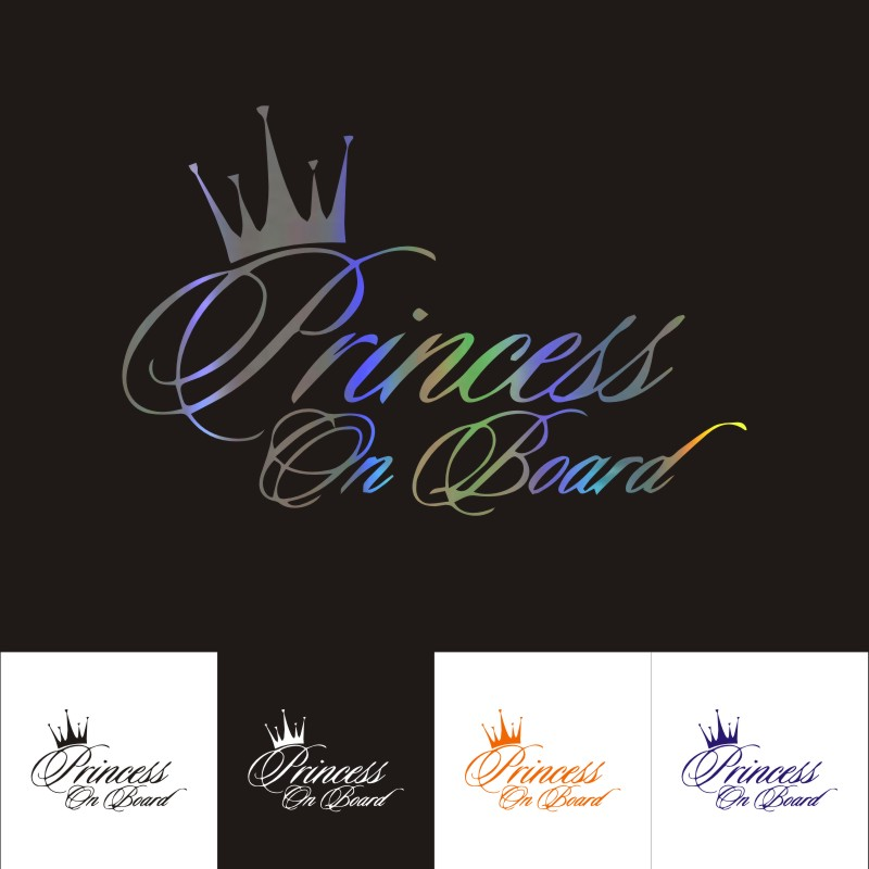 Princess Sarah On Board Personalised Girl Car Sign Child Gift 001