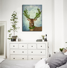 5 Designs Deer Head Wall Decorative Pictures Canvas Painting Prints Northern Europe Style Cartoon Oil Painting Abstract Animal(China)