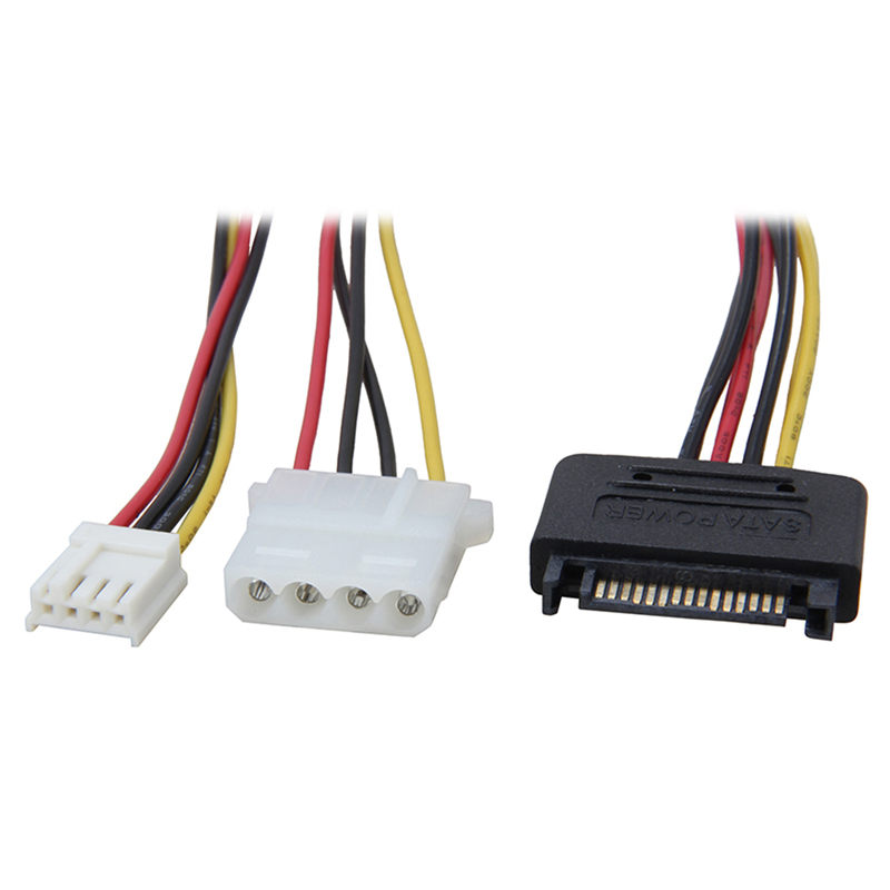 "Data And Power Serial ATA 16.5/"" Cable With LED Connector"