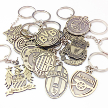 Auto Schmuck Keychain Football Club Keychain Europäischen Football League Schlüsselring Real Madrid Barcelona Liverpool(China)