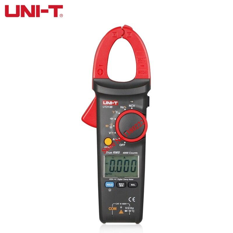 UNI-T UT213B True RMS AC Digital Clamp Meters Multimeters Digital  Multimeter 400A Digital Clamp Meters<br>