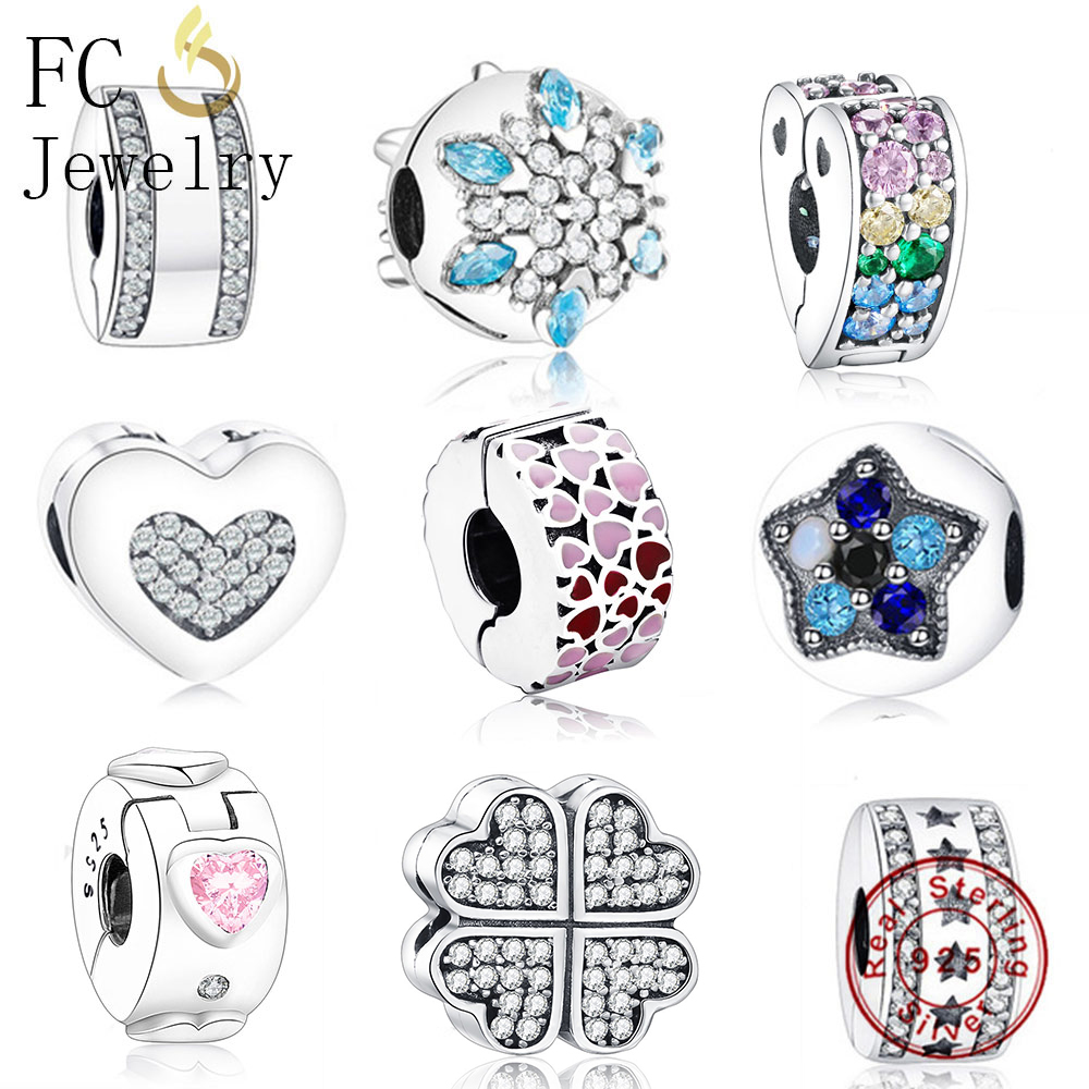 FC Jewelry Fit Original Pandora Charm Bracelet 925 Sterling Silver Animal Family Stopper Necklace Pendant Beads Clip Berloque