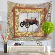 WARM TOUR Restro Classic Car Train Plane Ship Bike Mandala Indian Traditional Hippie Cotton Tapestry Wall Decoration Drop Ship(China)