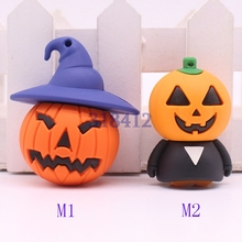 Horrific ghost USB Flash Drive Pen drive cartoon U disk memory stick pendrive 8GB 16GB 32GB Halloween pumpkin lantern gifts