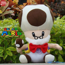 "New Super Mario Bros Old Toad Plush Doll Mushroom Man Kids Toys Christmas Gift Approx 10"" Free Track Code"