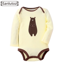 Sanlutoz Baby Rompers Winter Infant Bear Jumpsuit Newborn Cute Baby Clothes Long Sleeve Coverall for Boys Girls Costume