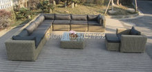 Quality assured outdoor furniture rattan sofa set living room furniture(China)