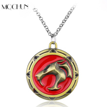 Fashion DC Comic Movie Thundercats Necklace Jewelry Punk Anime Thunder Cats Logo Cat Coin Pendants & Necklaces Jewelry