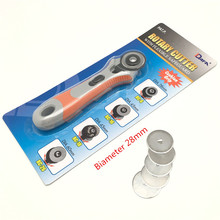 28/45mm  Soft Grip Rotary Cutter +5 Pc 28/45mm Blades  , Circular Cut Blade for Patchwork Leather Vinyl Paper Craft AA7766