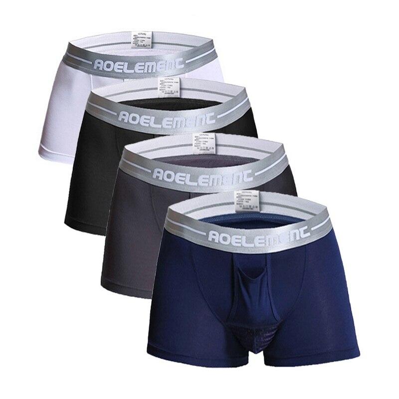 UMIPUBO Pack de 4 B/óxers Hombre Raya Larga Calzoncillos de Deporte Algod/ón Ropa Interior Trunks Underwear l/ástico Compresi/ón Shorts