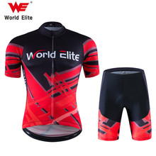 WORLD ELITE WE Cycling Jersey Sets Men Ropa Ciclismo Mujer Pro Mountain Bike Bicicleta Short Sleeve Summer Style Hot Selling(China)