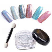 1g/Box Laser Silver Holographic Powder Dust for UV Nail Gel Polish Laser Silver Glitter Acrylic Nails Art Glitter Tips(China)