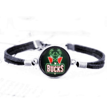 leather bracelet bangles winner all team NBA Houston Rockets Charms for Women Men basketball Fans Gift Party Birthday 2017