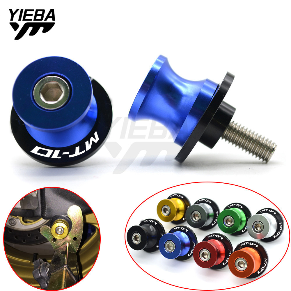 Motorcycle Accessories Parts For YAMAHA MT10 MT-10 MT 10 CNC Aluminum Moto Accessories Swingarm Spool Slider 6mm Swing With LOGO