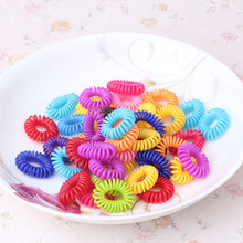 2017 12pcs/lot Colorful Telephone Wire Line Girls Hair Accessories Hair Elastic Ponytail Holders Ring Silicone scrunchy gum Hair