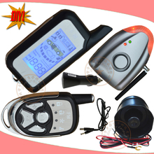 hot DIY Two Way Auto Car Alarm Auto Security System with Wireless Alarm Siren ,shock and air pressure alarm,CE Passed