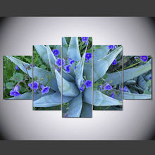 Ode-Rin painting on the wall abstract decorative pictures Aloe flower bloom painting 5 piece canvas art painting(China)