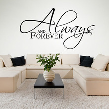 Living Room Decorative Always And Forever Art Vinyl Wall Decal Removable DIY Home Decor Wall Sticker Lettering