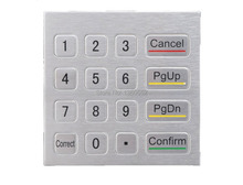 Non-Encrypted 3DES EPP, Rugged numeric keypad,custom keypad,metal keypad, 16 keys mini stainless steel metal numeric keypad
