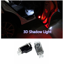 2PCS LED  Laser Lamp Ghost Shadow Projector  Welcome Warning Courtesy Logo Light  for AUDI Audi A6 A1 A3 A4 C5 80 A7 Q3 Q5 Q7 TT