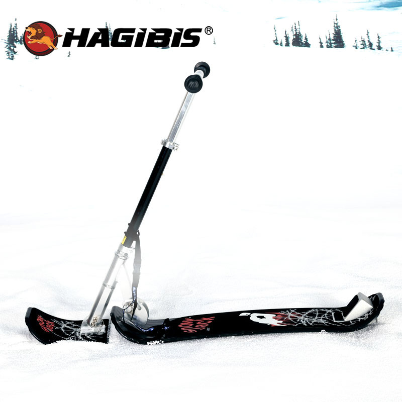HAGIBIS Adults Fold Snow Skate Board Winter Outdoor Sled Snow Scooter Snow Sled With Safe Brake(China)