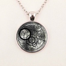 New Steampunk uk movie dr doctor who bomb Necklace 1pcs/lot bronze silver police time lord Pendant chain mens women vintage 2016