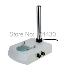 Microscope Pillar Stand Base for Zoom Stereo Microscope with reflected and transmitted illumination