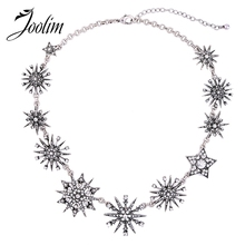 JOOLIM Jewelry Wholesale/2017 Gorgeous Trendy Starburst Collar Necklace Fashion Jewelry Collier Women Summer Accessories