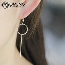 OMENG  Minimalist cos hm circle pearl ear ring earring transparent glass bead earrings earrings female  EH484