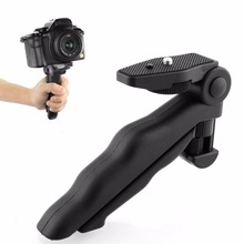 Portable Flexible 2 in 1 Handheld Grip Mini Tripod 1/4 Standard Screw Stand for Canon Nikon Sony Digital Camera Camcorder