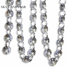 SKY CANDYBAR 33 FT Crystal Clear Acrylic Bead Garland Chandelier Hanging Wedding Decoration(China)