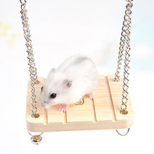 Wood Birds Hamster Chinchilla Hammock Guinea Pig Rabbit Hanging Bed Cage Accessories Mouse Toy