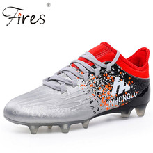 Fires new men's outdoor sports training  Football Shoes long enough boy  girl sneakers for children who nails grass soccer shoes