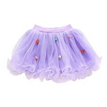 Summer New Lovely Baby Girls Summer Rose Lace Princess Tulle Skirt Wedding Tutu Skirts 1-4Y(China)