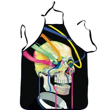 2016 New 3D Women Men Funny Novelty Horror Skull Chef Aprons Waterproof Anti-oil Printed Cooking Kitchen Apron