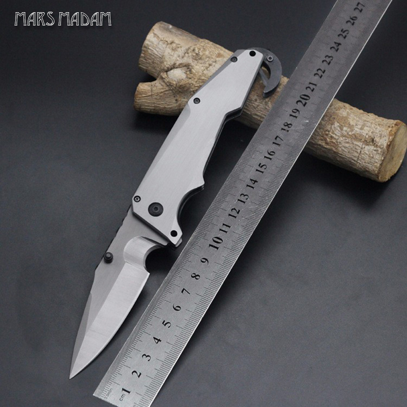 MARS MADAM Free shipping The sharp folding knife  Perfect titanium steel  Outdoor tools  Camping survival knife<br>