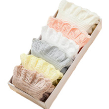 Princess Lace Baby Girls Socks Cotton Toddler Newborn Infant Socks for 0-3 Years Mix Colors 6 Pairs/Lot Gift Box(China)