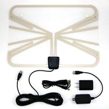USA Dispatch Indoor Digital TV Antenna HDTV DTV HD VHF UHF Flat Wave 50 Mile Range supply 3TA50T(China)