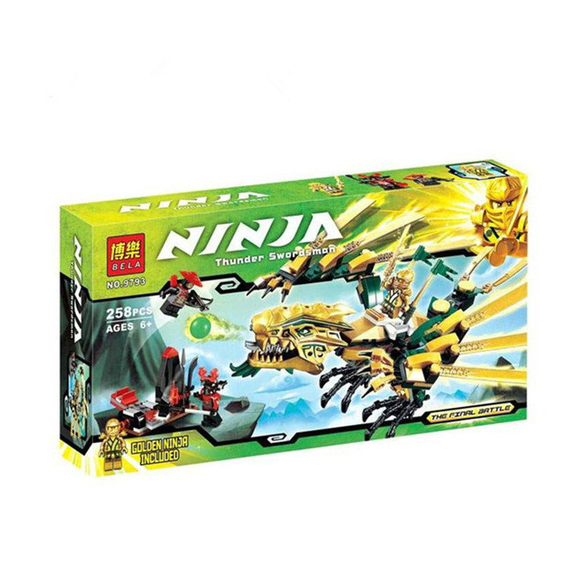 2017 NEW BELA Ninjagoed series The Golden Dragon model building blocks figures Classic Toys gifts Compatible Lepin 70503<br><br>Aliexpress