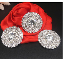 25mm,30mm LARGE Metal Rhinestone Flat Backs Crystal Button Embellishment Headband Supplies Flower Centers 50pcs RMB021