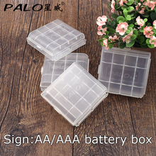 Hot Sale 4 PCS Plastic White 4 Slots AA AAA aa aaa Battery Case Holder Battery Storage Box(China)