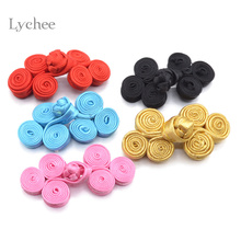 Lychee 5 Pieces/Lot Tri-wheel Chinese Knot Buttons Cheongsam Chinese Style Coat Closure Frog Button Clothes Accessories DIY(China)
